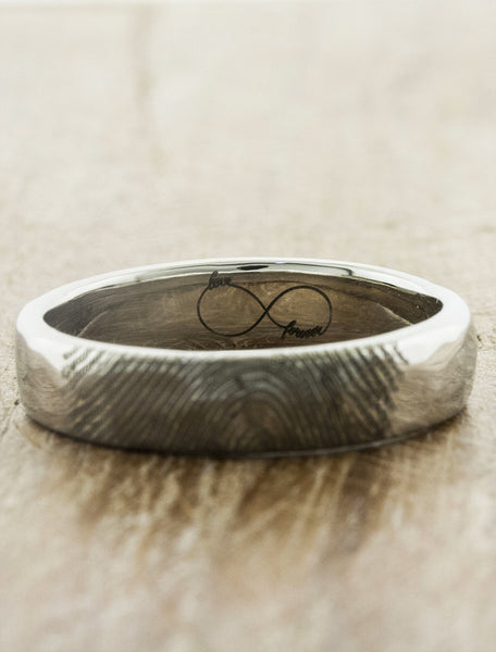 custom fingerprint wedding ring