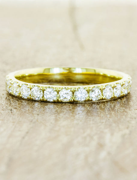 classic diamond eternity ring - yellow gold variation