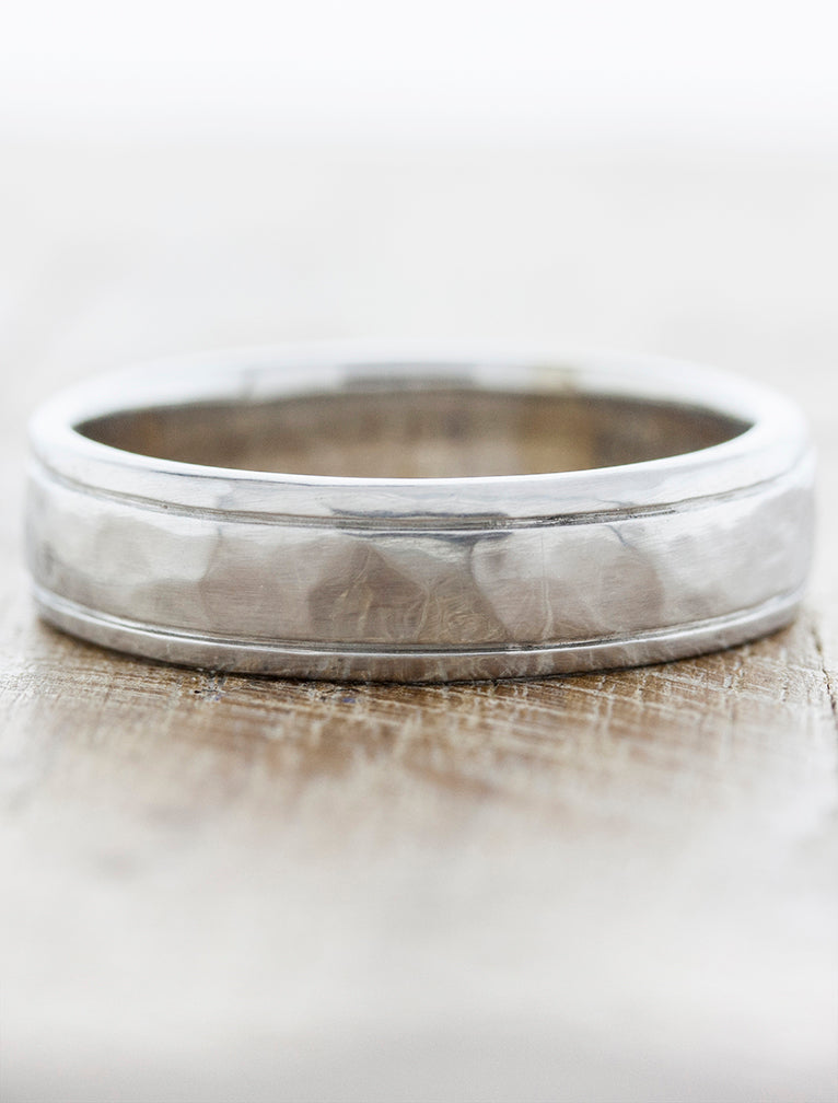 Modern Men's 6mm Dome Wedding band