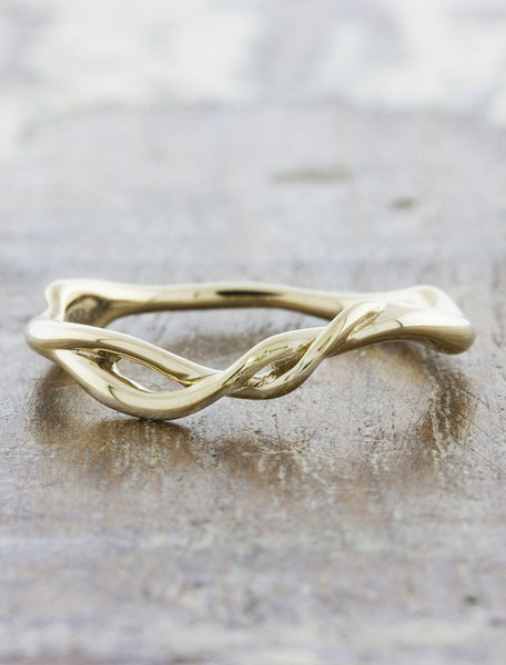 sculptural branch wedding ring - yellow gold variation