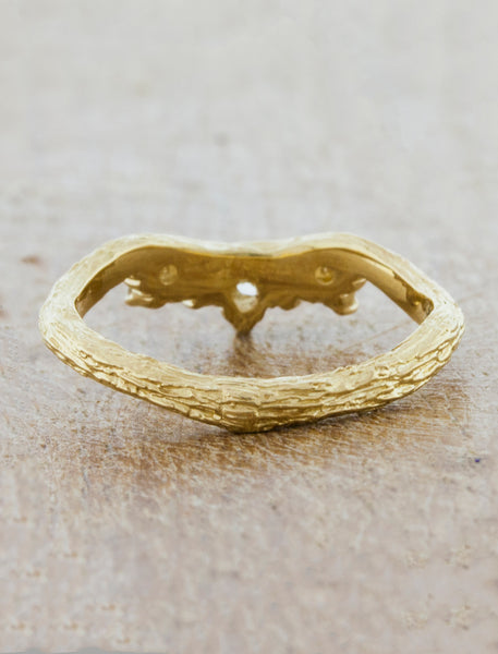 Nature Inspired Tiara Wedding Ring