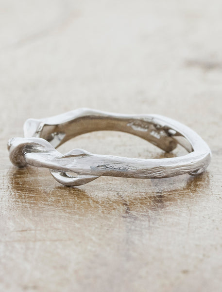 Nature Inspired Textured Diamond Band