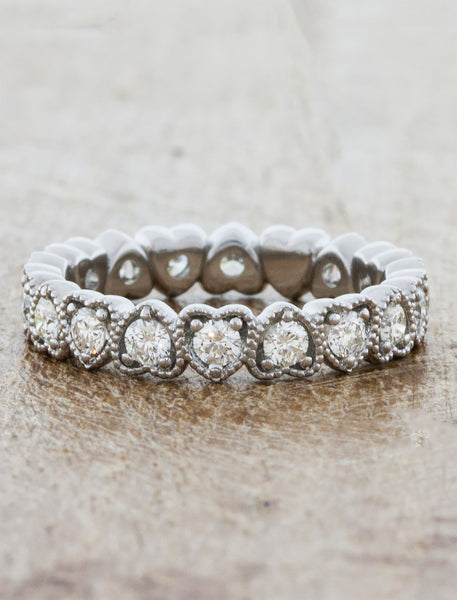 Heart Shaped Eternity Wedding Ring