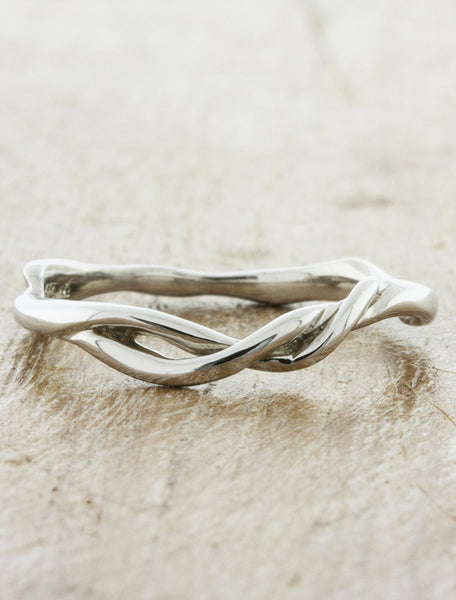 sculptural branch wedding ring