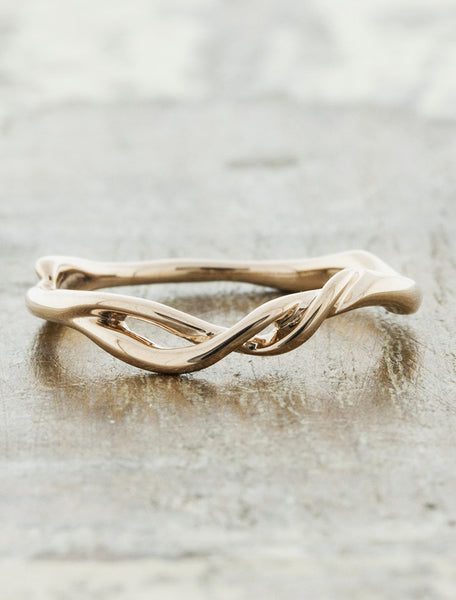 nature inspired twisted, branch ring