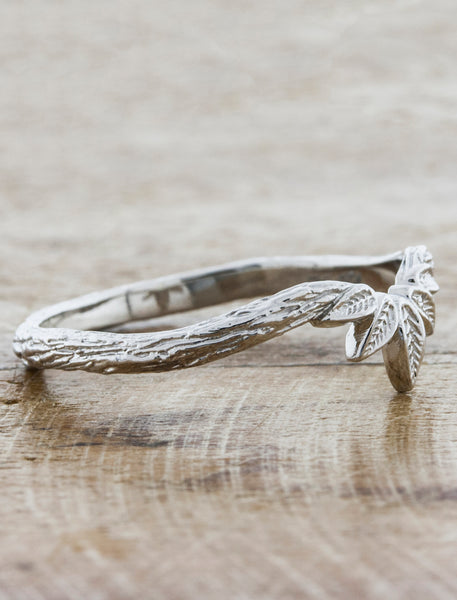 Nature Inspired Bark Textured Wedding Ring