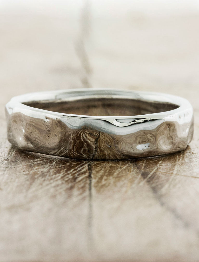 Textured Men's Wedding Bands by Ken & Dana Design - Nando