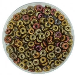 O Beads 1x4mm Metallic Mix