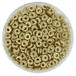O Beads 1x4mm Aztec Gold