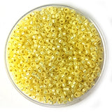 11-554 Silver Lined Dyed Pale Yellow (per 10 gram)