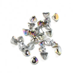 Button Beads 4mm Crystal Vitrail
