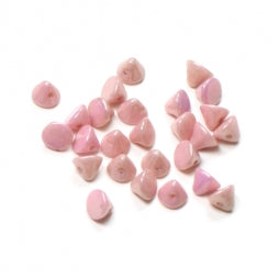 Button Beads 4mm Chalk White Lila Luster
