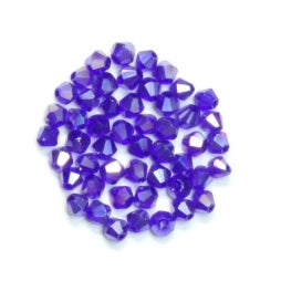 Bicone Beads 3mm Cobalt AB