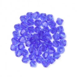 Bicone Beads 3mm Transparent Blue