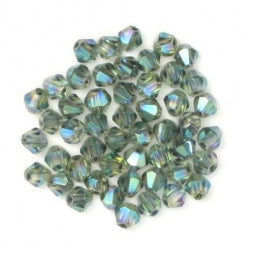 Bicone Beads 3mm Dark Sea Green