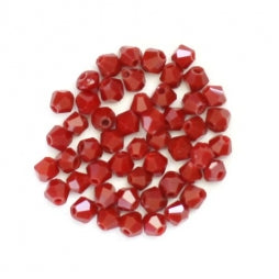 Bicone Beads 3mm Dark Red