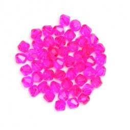 Bicone Beads 3mm Transparent Fuchsia