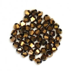 Bicone Beads 3mm Dark Bronze
