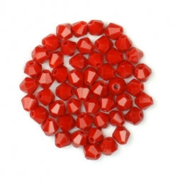 Bicone Beads 4mm Red