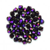 Bicone Beads 4mm Purple AB