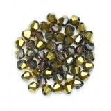 Bicone Beads 4mm Golden Gray