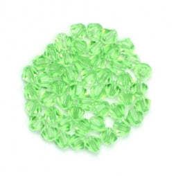 Bicone Beads 4mm Transparent Lt Green