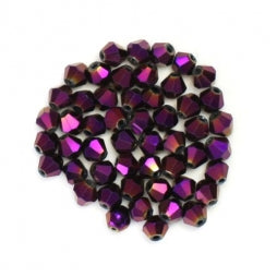 Bicone Beads 4mm Violet