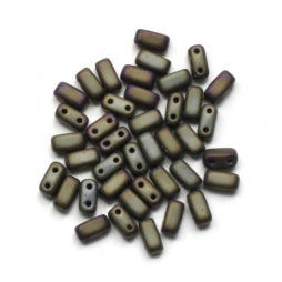 CzechMates Bricks 3/6mm Matte Iris Brown