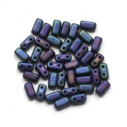 CzechMates Bricks 3/6mm Matte Iris Blue