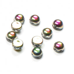 2-Hole Cabochons 6mm Crystal Full Vitrail