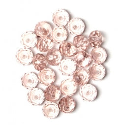 Facet Rondellen 6x4mm Lt Rose