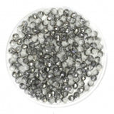 Facet Rondellen 2.5x2mm Half Plated Silver
