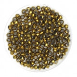 Facet Rondellen 2.5x2mm Full Plated Goldenrod