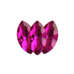Fancy Stone Navette Eye 18x9mm Fuchsia