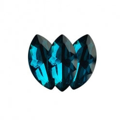 Fancy Stone Navette Eye 18x9mm Blue Zircon