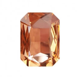 Fancy Stone Rectangle 13x18mm Light Peach