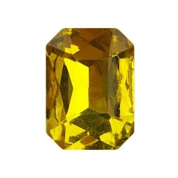 Fancy Stone Rectangle 13x18mm Yellow