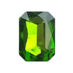 Fancy Stone Rectangle 13x18mm Grass Green
