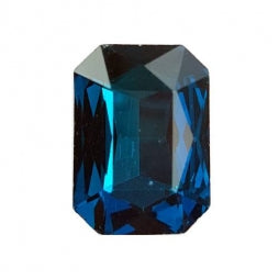 Fancy Stone Rectangle 13x18mm Blue Zircon