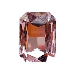 Fancy Stone Rectangle 13x18mm Lt Rose