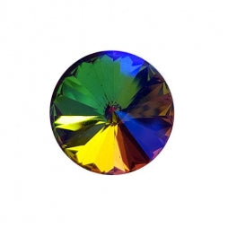 Fancy Stone Rivoli 18mm Rainbow AB