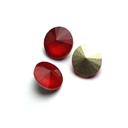 Fancy Stone Rivoli 14mm Mokka Red