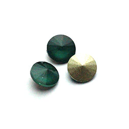 Fancy Stone Rivoli 14mm Mokka Deep Green