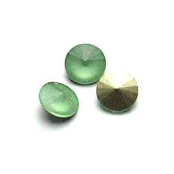 Fancy Stone Rivoli 14mm Mokka Green