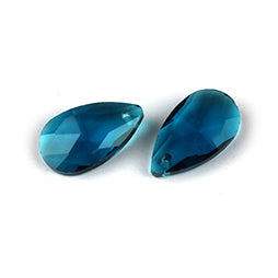 Facet Druppels 16mm Blue Zircon