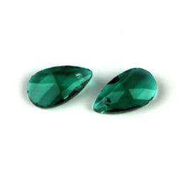Facet Druppels 16mm Emerald