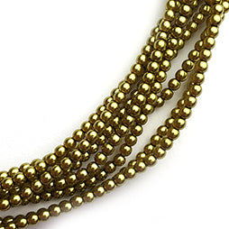 Glasparel 3mm Old Green Gold (per 44cm Streng)