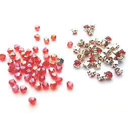 Beading Kit Olivia kleur Silver-Red