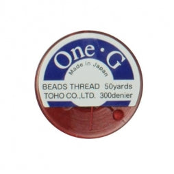 Toho One-G Beading Thread Red