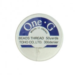 Toho One-G Beading Thread White